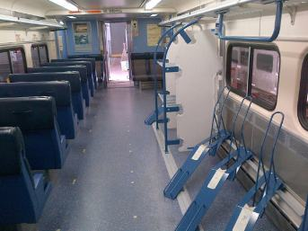 Inside the bike train car (Credit: MARC)