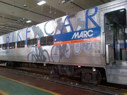 Bike train car exterior (Credit: MARC)