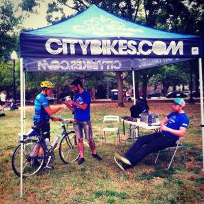 city bikes at start