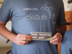 shirt and sticker