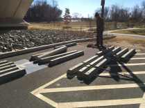 The parking stops start to pile up! Photo credit Daniel Hoagland.