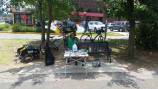 Popup outreach on the Metropolitan Branch Trail