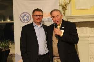 Winner Jim Durahm and Presenter Charlie Denney