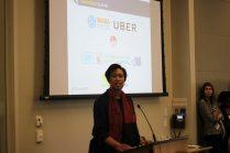 Mayor Muriel Bowser address lunch keynote attendees.
