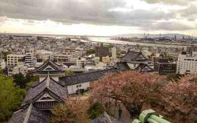 View overlooking Wakayama Castle