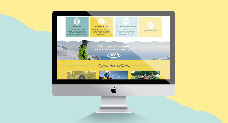 Gréolières l'Audibergue, création de site web - Agence Wacan