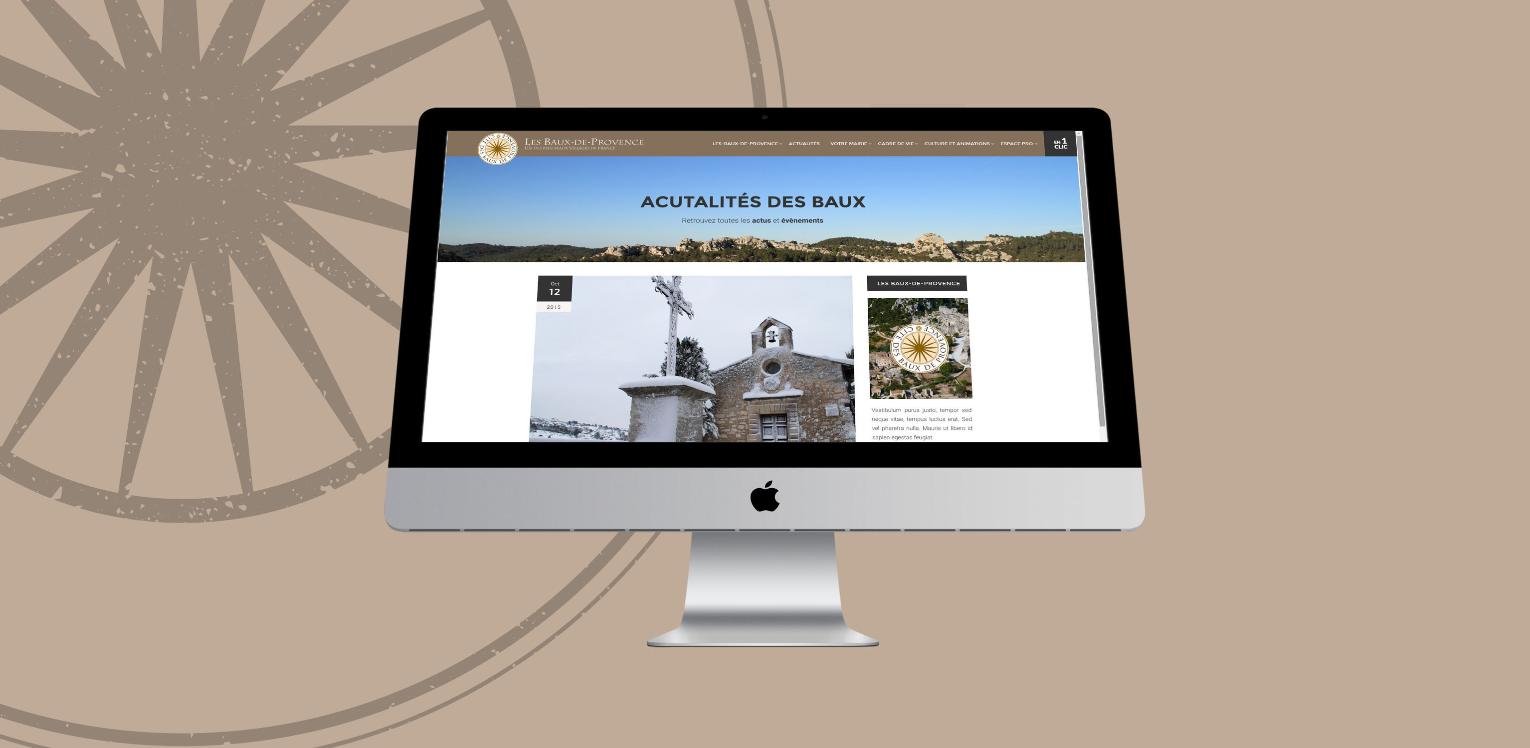Les Baux de Provences, création de site web - Agence Wacan