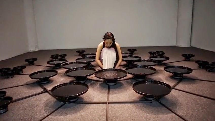 künstlerin manipuliert bewegung von wasser mit ihrem geist lisa park wachaufmenschheit eunoia wach auf