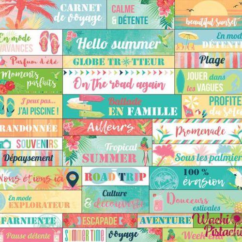 Pegatinas frases Tropical Paradise - Toga