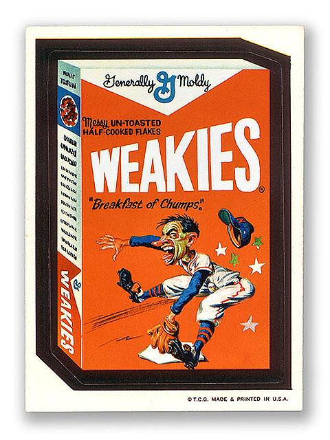 Wacky Packages Topps 1st Series Weakies Breakfast Cereal