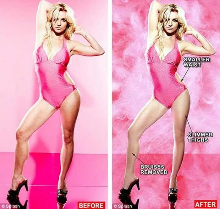 26 Celebrities Before & After Photoshop Will Blow Your Mind -21