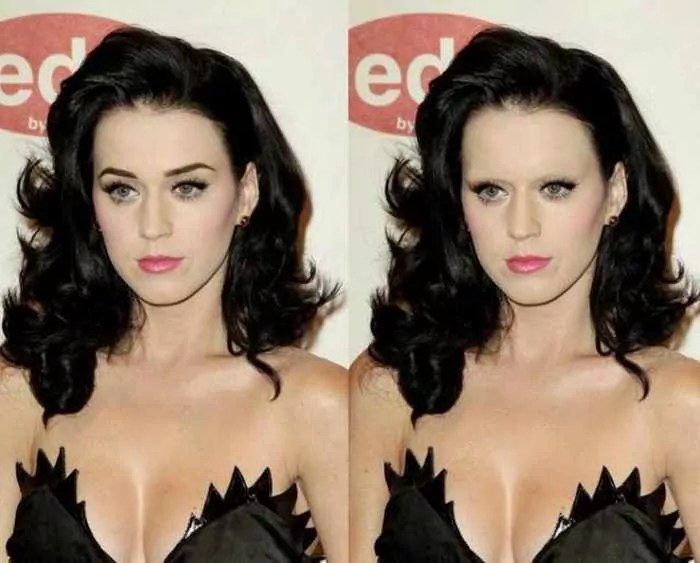 18 Celebrities With And Without Eyebrows - Katy Perry