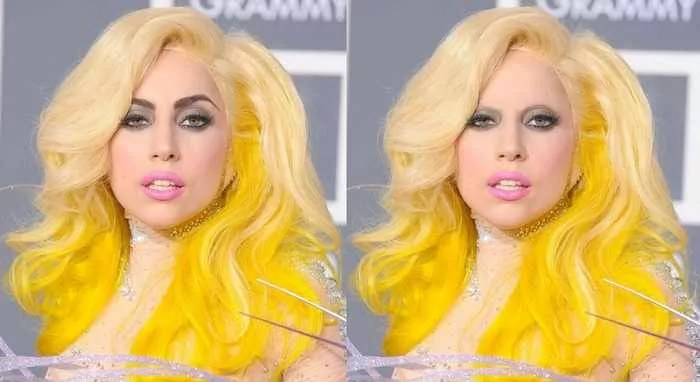 18 Celebrities With And Without Eyebrows - Lady Gaga