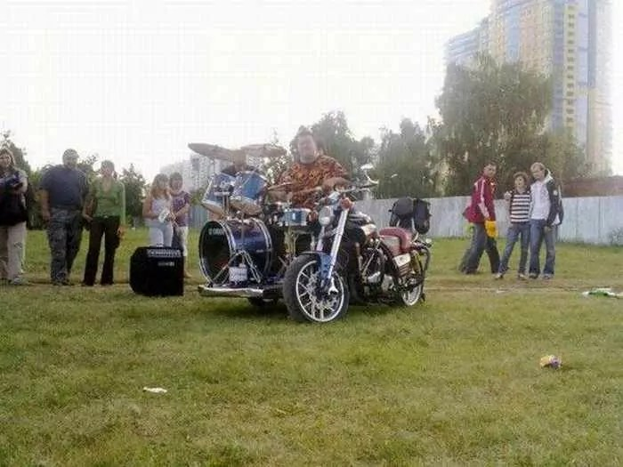 Funny Bike With Drums For Music Lover - 8 Pics -06