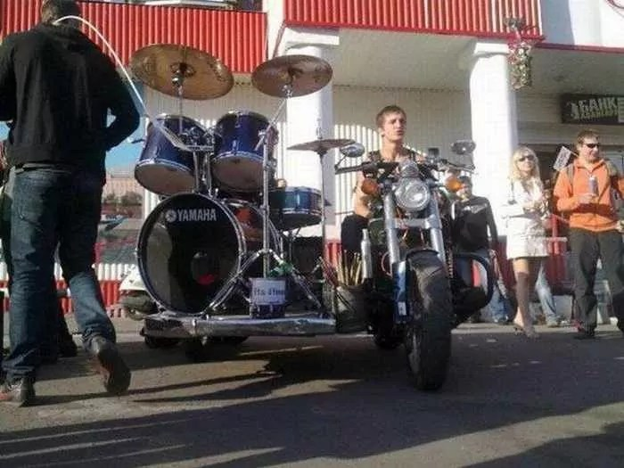Funny Bike With Drums For Music Lover - 8 Pics -08