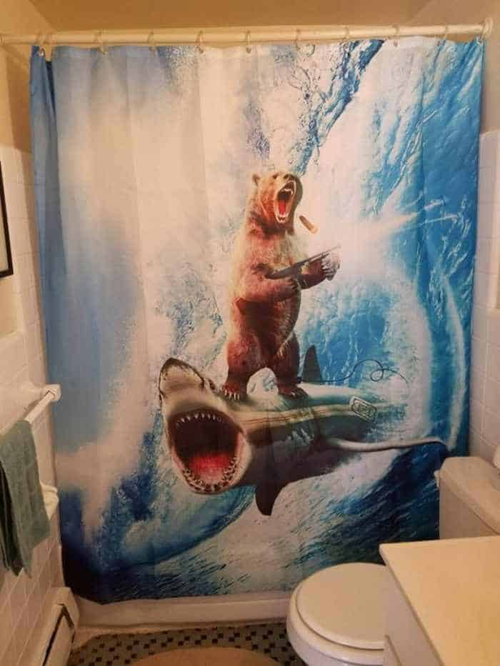 31 Funny Creative Shower Curtains That Will Make Your Day -24