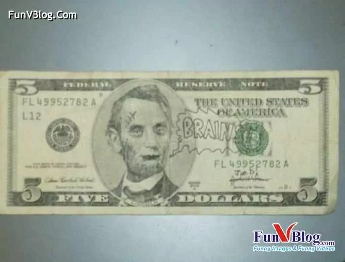 11 Mind-blowing Funny Paintings on US Dollar Bill -17