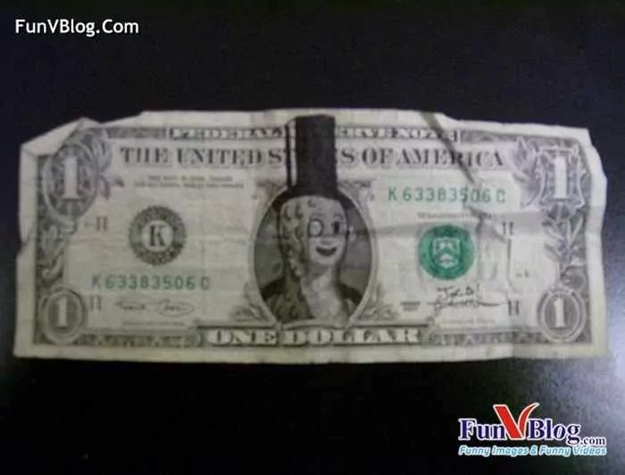 11 Mind-blowing Funny Paintings on US Dollar Bill -21