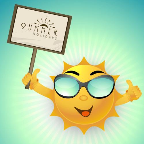 Summer sun graphic