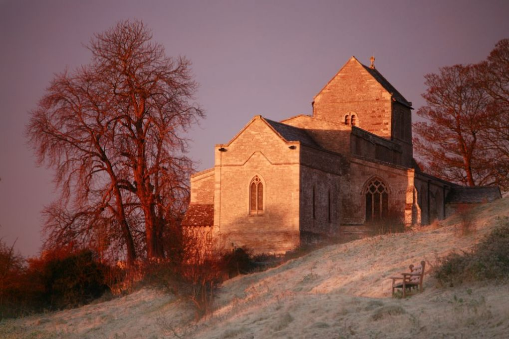frosty_wadenhoe_church