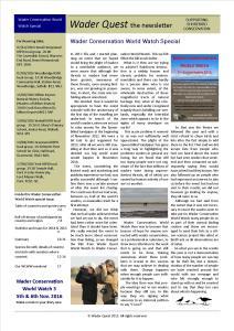 WCWW 2015 Newsletter - Special Edition