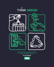 THINK GREEN TEE BACK