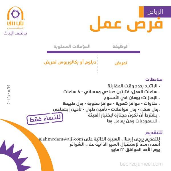 غدا الأحد التقديم على وظيفة تمريض نسائية - الرياض