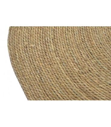tapis rond jute et coton