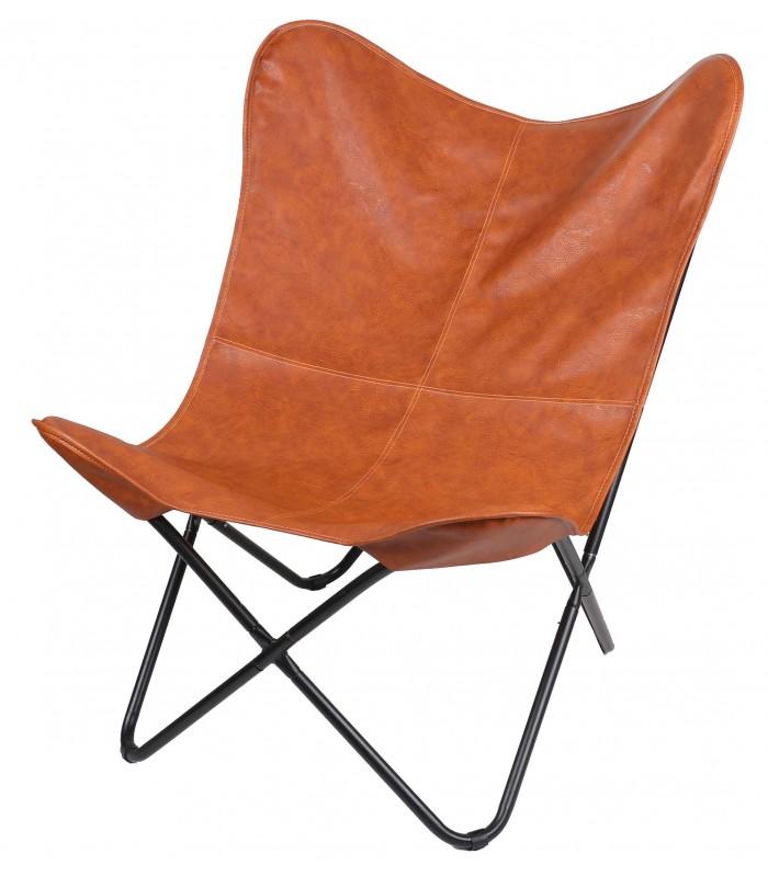 fauteuil butterfly en veritable cuir