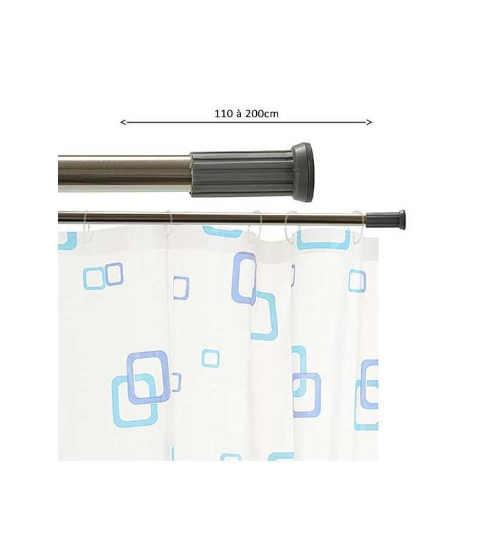 adjustable shower curtain rod chrome