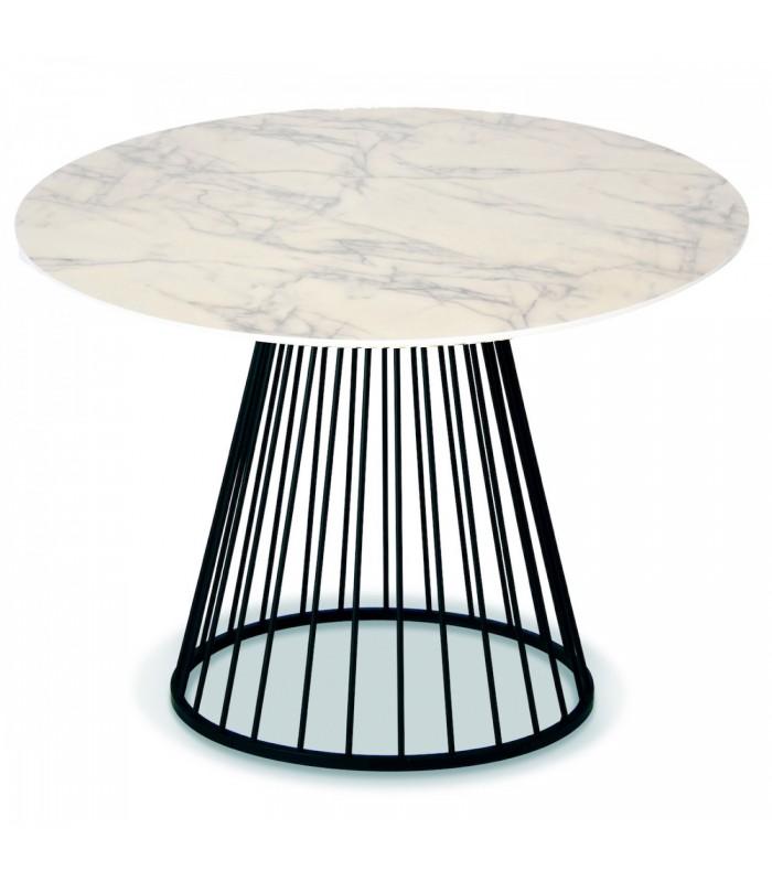 table ronde de salle a manger en bois