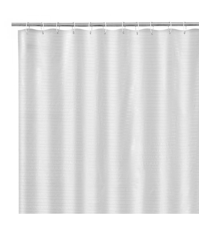 shower curtain blue and white polyester
