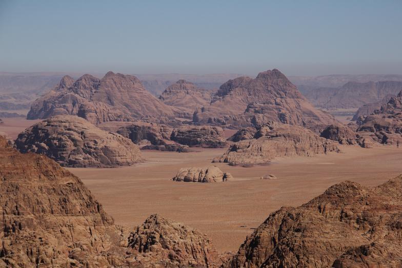 Desert View from Jebel Al Hash, Wadi Rum Desert, Jordan