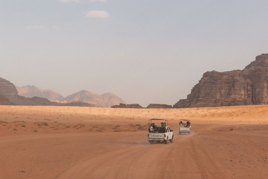 Desert Jeep Tour in Wadi Rum Desert, Jordan.