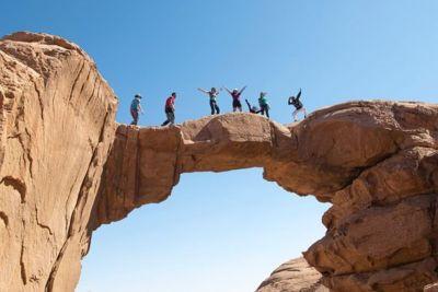 Burdah Arch Hike in Wadi Rum.