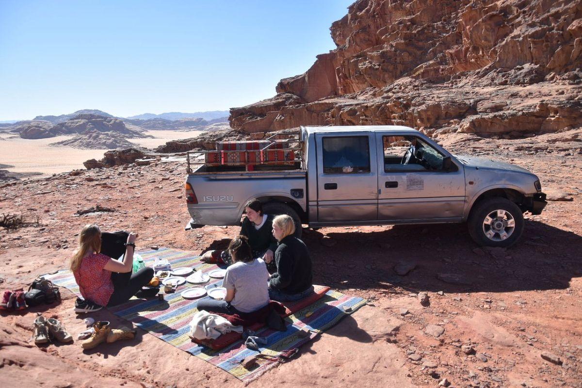 Lunch during Wadi Rum Jeep Tour, Jordan.