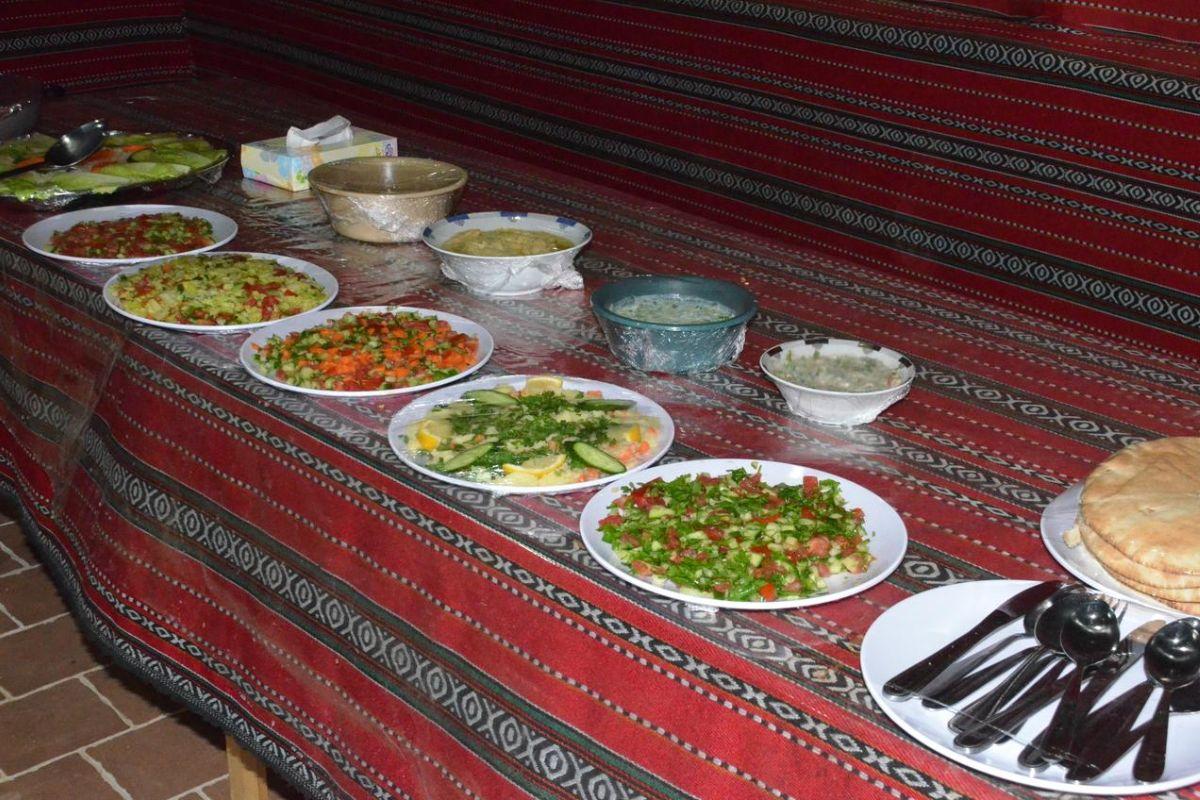 camp dinner - salad