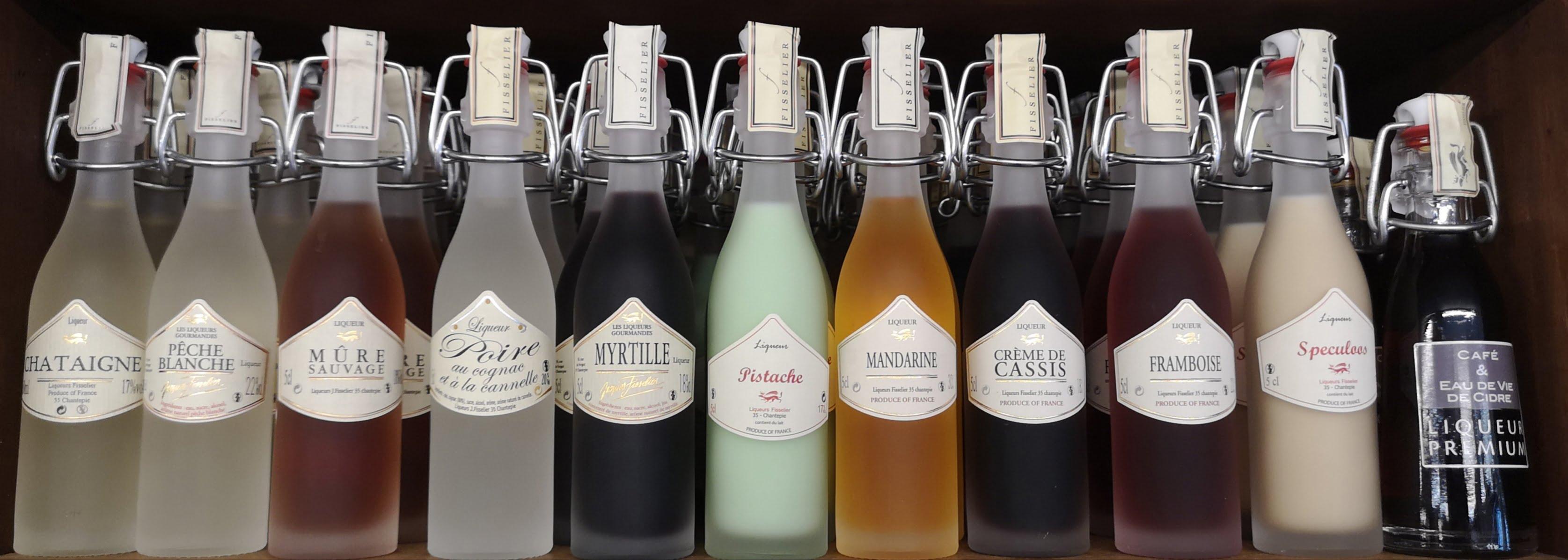 Fissilier liqueurs in miniature