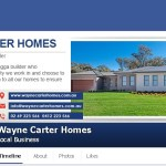 Facebook page – Wayne Carter Homes