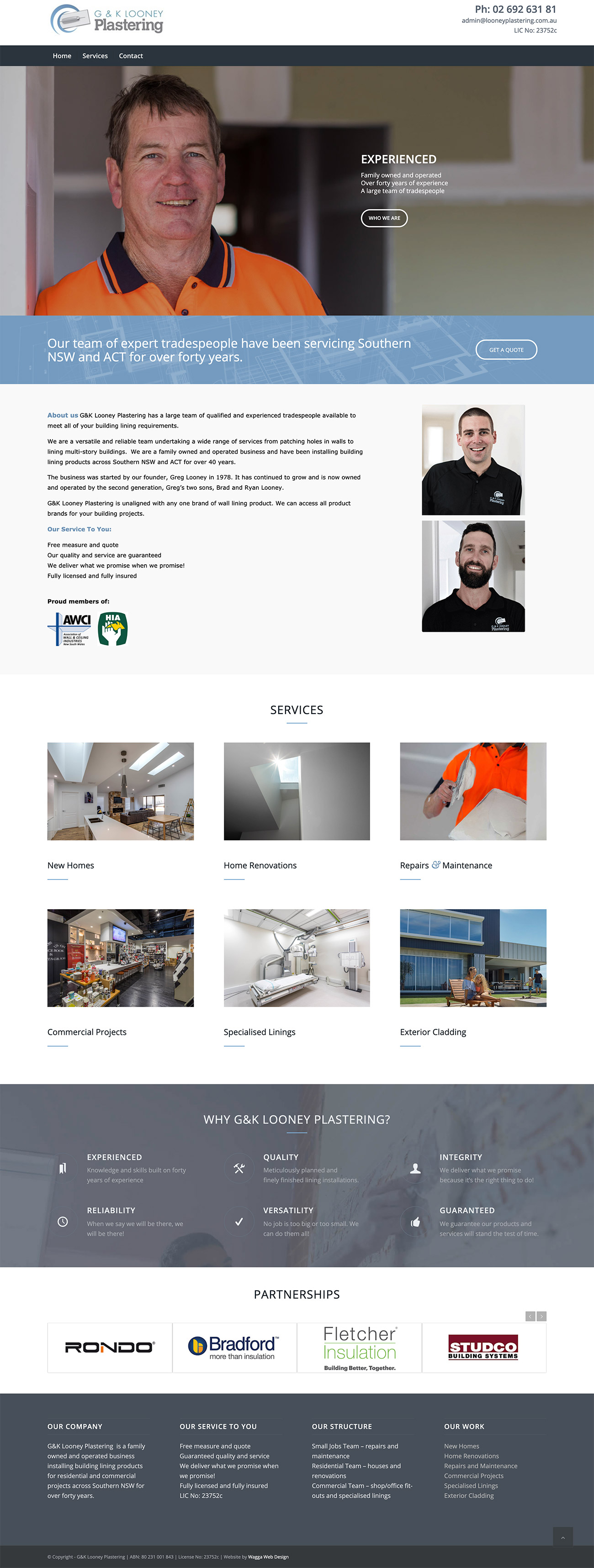 Plastering website