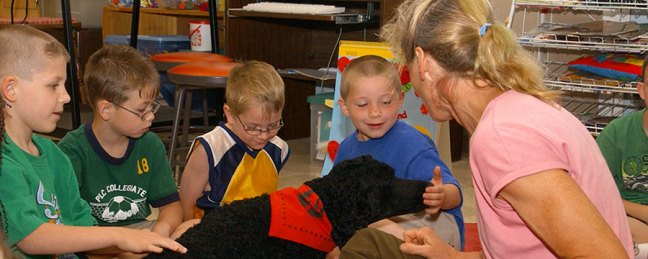 Therapy Dog and Kids