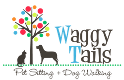 Waggy Tails Pet Sitting and Dog Walking Logo