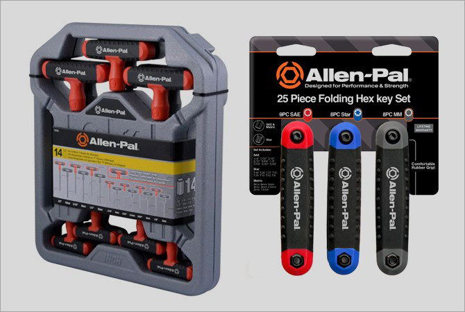 Allen-Pal T-Handle and Fold-Out Hex Keys