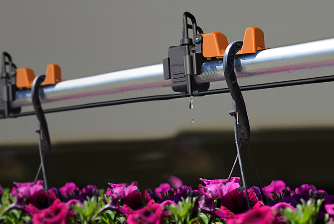 WaterPulse Auto-Off Irrigation for Hanging Baskets