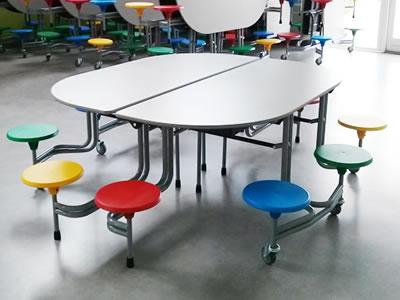 10 Seat School Dining Table School Tables Wagstaff