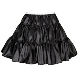 Childs 3 Tier Taffeta Petticoat in White or Black