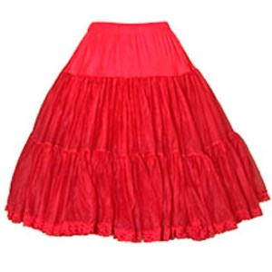 535 Chiffon Petticoat in White, Black or Red