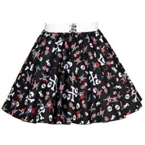 Childs Skull & Crossbones Print  Skirt