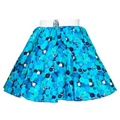 Childs Blue Buttons Print Circle Skirt