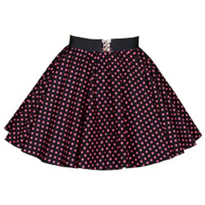 Childs Black / Pink 7mm PD Circle Skirt